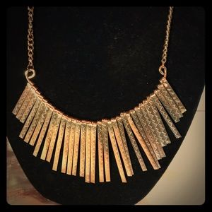 Vintage 80's bling gold toned necklace
